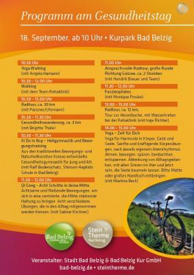 Programm Gesundheitstag