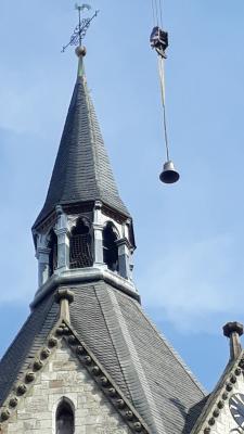 Die neue Glocke der Nikolaikirche