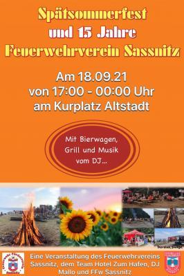 Spätsommerfest und 15 Jahre Feuerwehrverein Sassnitz