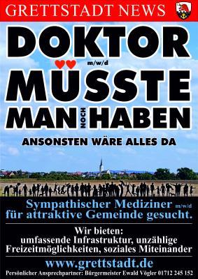 Landarzt (m/w/d) für unsere Gemeinde Grettstadt gesucht