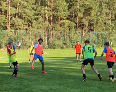 Die U14-Auswahl trainiert in Lindow