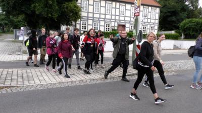 """Foto zur Meldung: Spendenwanderung """"WasserMarsch"""" in Lauchhammer"""