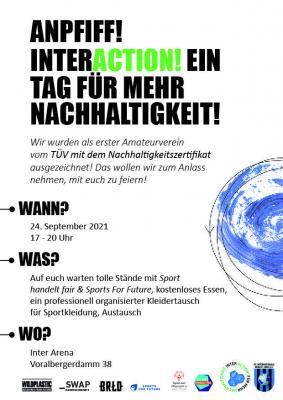 Erster Inter-Nachhaltigkeitstag am Freitag, 24.09.
