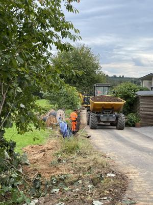 Neubaugebiet und Sonneneck - Ende der Arbeiten nähert sich