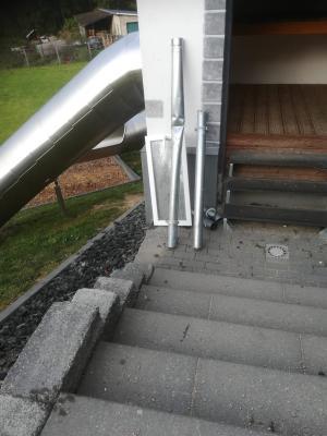 Vandalismus am Rutschenturm