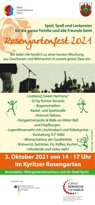 Rosengartenfest am 3. Oktober