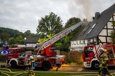 Die Drehleiter bei der Brandbekämpfung