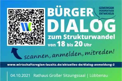 Bild Ausschnitt der Anzeige zu Bürgerdialogveranstaltung zum Strukturwandel
