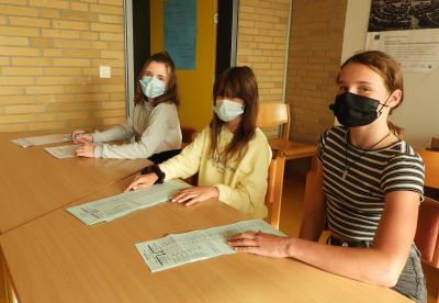 Wahllokal öffnet in der Gesamtschule