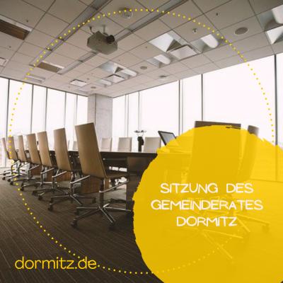 Sitzung des Gemeinderates Dormitz