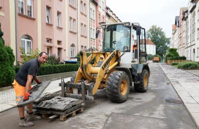 Körnerstraße: Sanierung des Gehwegs