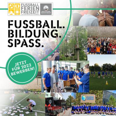 Jetzt bewerben: Fußball-Ferien-Freizeiten 2022