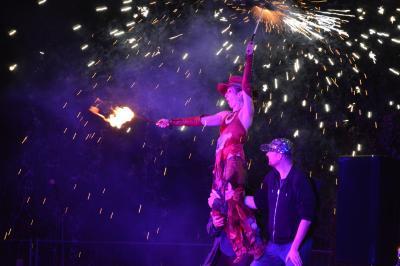 Feuershow mit den Fire Fingers und Gästen I Foto: Martin Ferch