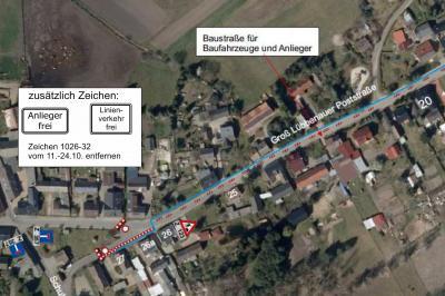 Foto zur Meldung: Sperrung der Groß Lübbenauer Poststraße in Groß Lübbenau