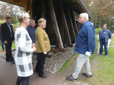 Besuch der Bundeskanzlerin im Salzmuseum Mecklenburg