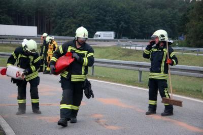 Unfall auf der BAB2-Auffahrt Lehnin