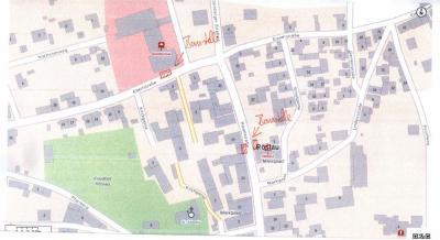 Halbseitige Sperrungen in Ebertstr. 4 (Grundschule) und Hauptstraße (am Rathaus)