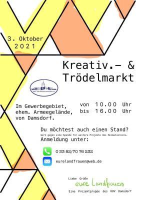Damsdorfer Kreativ- und Trödelmarkt am 03.10.