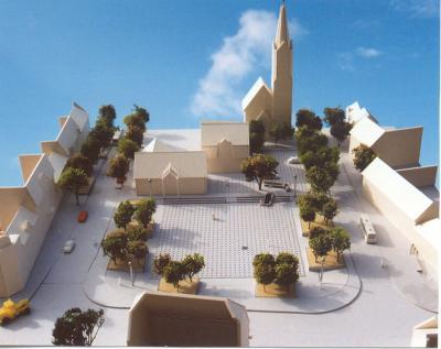 Modell zur Stadtentwicklung-Marktplatz