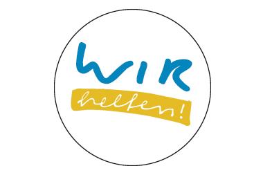 """Logo Spendenverein """"Wir helfen e. V.""""; Quelle: Lausitzer Rundschau"""