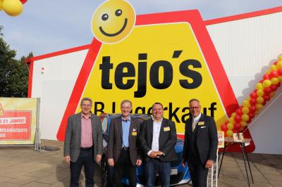 Dr. Oliver Hermann, Karsten Richter, Daniel Weber und Bernd Kasmann nach dem Rundgang (v.l.n.r.) | Foto: F. Lenz