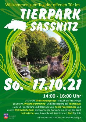 Der Tierpark Sassnitz lädt am 17.10.2021 ein...