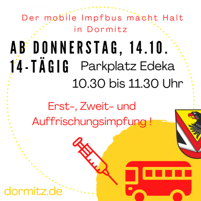 Impfbus macht Station in Dormitz