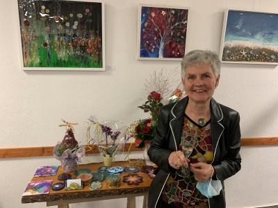 """Ausstellungseröffnung """"Lebensfreude"""" der Künstlerin Anne-Christin Kuflewski am 1. Oktober 2021"""