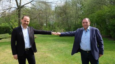 Jan-Hendrik Schade (Geschäftsführer) und Hubert Cordes (Landesinnungsmeister)
