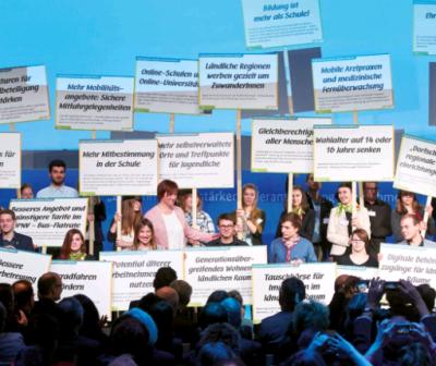 Jugend-Demografie-Dialog, Bild: Bundesministerium für Familie, Senioren, Frauen und Jugend
