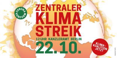Zentraler Klimastreik am 22.10.2021 Kanzleramt Berlin