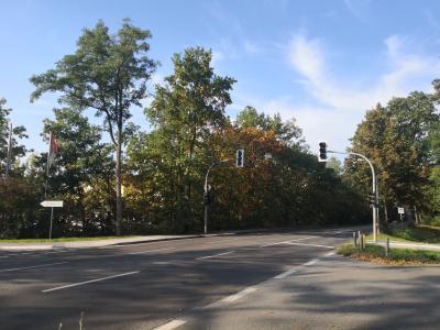 Wiederinbetriebnahme Fußgängerbedarfsampel  @Gemeinde Grünheide (Mark)