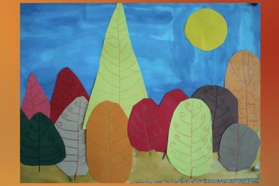 Klasse 1 und 2 AA: Bunte Herbstbäume