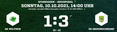 [SGW I] Pokalspiel in Wilthen vor rund 200 Zuschauern
