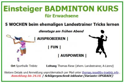 Foto zu Meldung: Badminton für Einsteiger