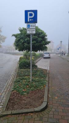 Bitte beachten: Geänderte Parkdauer auf dem Meyenburger Wilhelmsplatz