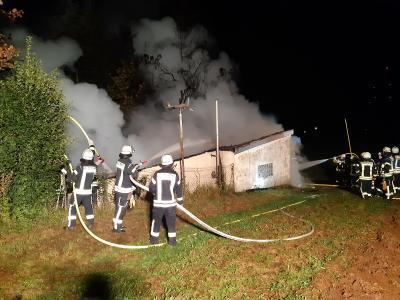 Garagenbrand in Udorf