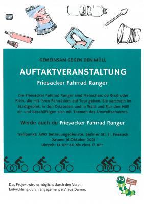 GEMEINSAM GEGEN DEN MÜLL - Friesacker Fahrrad Ranger