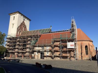 Kirchensanierung St. Marien in Wriezen schreitet voran