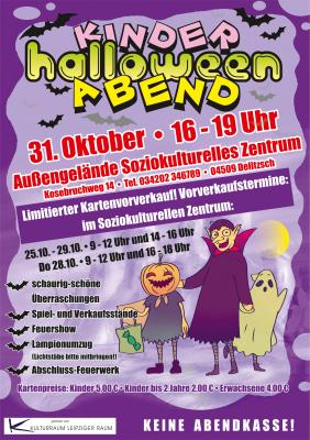 Kinder-Halloween-Abend – Vorverkauf noch bis 29.10.2021