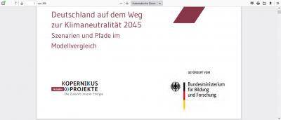 Deutschland auf dem Weg zur Klimaneutralität 2045: Szenarien und Pfade im Modellvergleich
