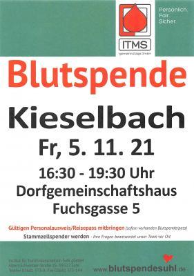 Blutspende Kieselbach 05.11.2021