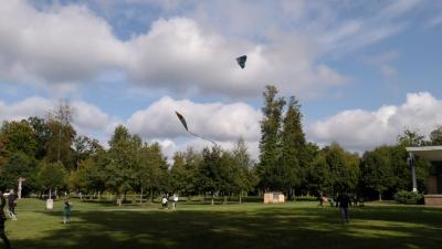 Der Schlosspark bietet ideale Bedingungen für ein Drachenfest