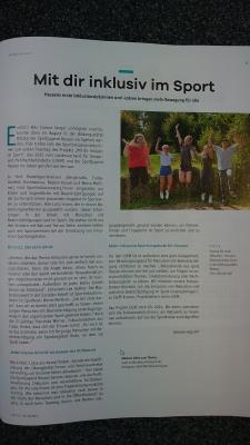 """Artikel im Magazin """"Sport in Hessen"""""""