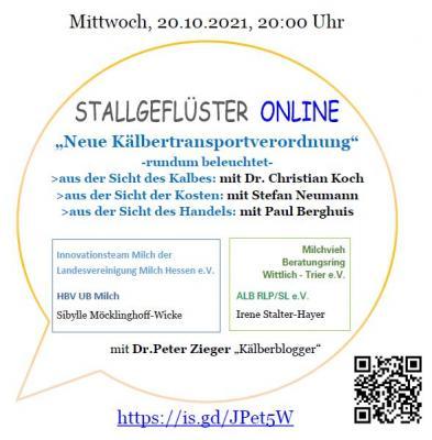 Stallgeflüster ONLINE am 20.10.2021