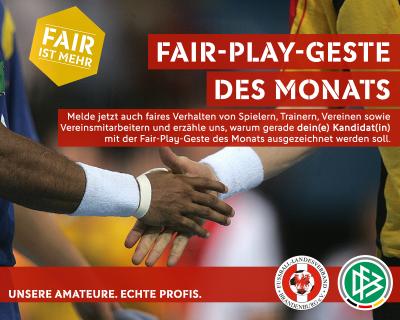 Fair-Play-Gesten aus September zur Abstimmung