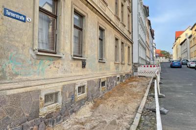 Vorschaubild der Meldung: Gehwegbau in der Turnerstraße