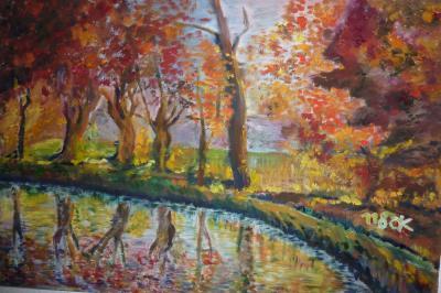 Herbstlandschaft. Grafik: Annekatrin Krause