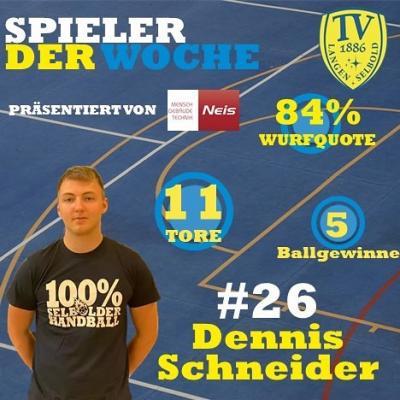 Foto zur Meldung: Handball Männer 1: Erster Spieler der Woche gekürt