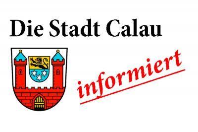 Unwetterwarnung für das Stadtgebiet von Calau